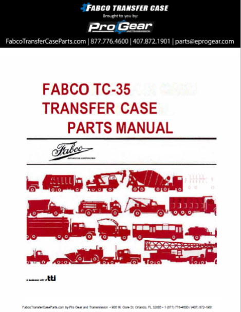 Fabco TC-35 Transfer Case Parts Manual