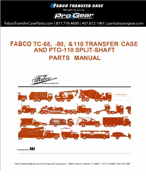 Fabco TC-80 Transfer Case Parts Handbuch